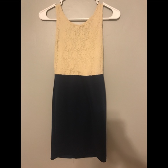 Dresses & Skirts - Beige lace high low tank